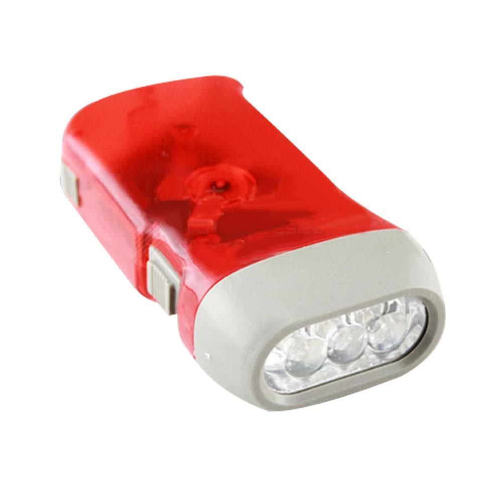 Self Generating Squeeze Flashlight Torch Emergency light envioronmental Blue WT