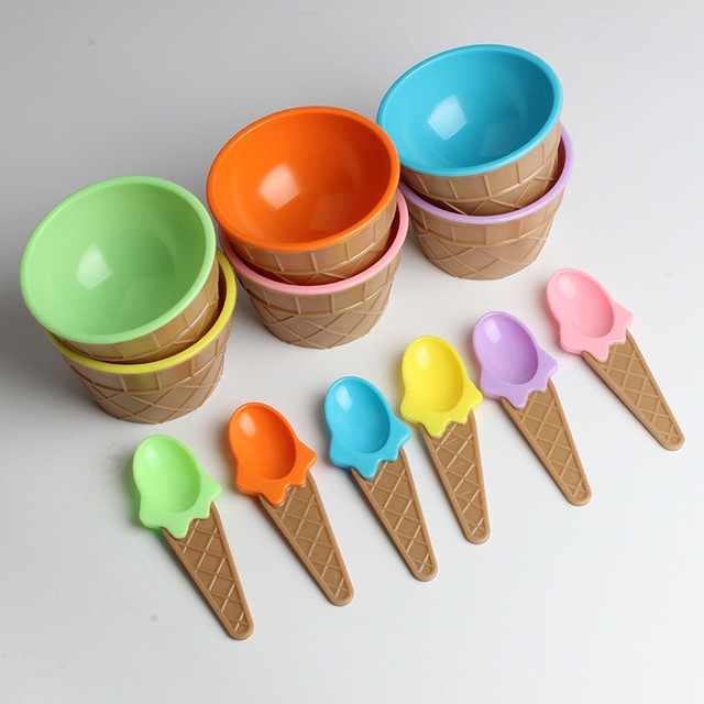 Ice Cream Bowl & Spoon Set