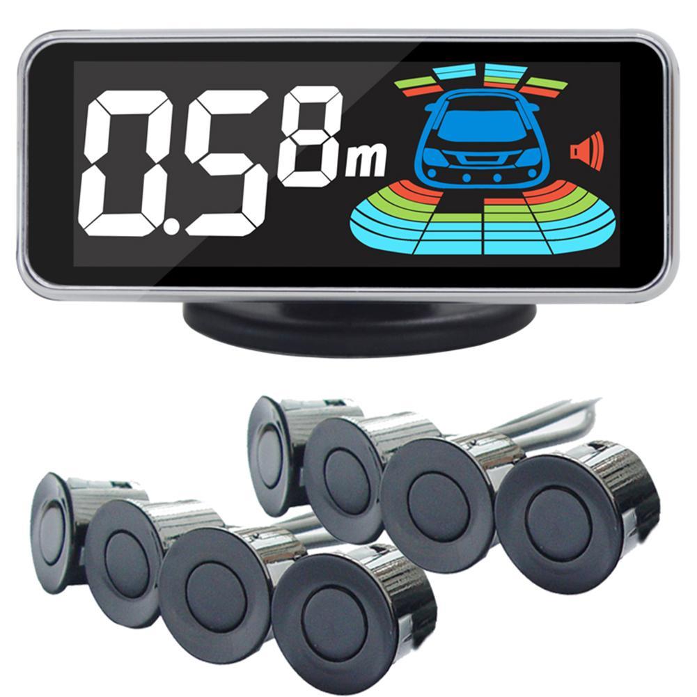 Capteur de stationnement QXNY 8 capteurs voiture Automobile Radar de recul Parking voiture détecteur aide au stationnement Radar de recul