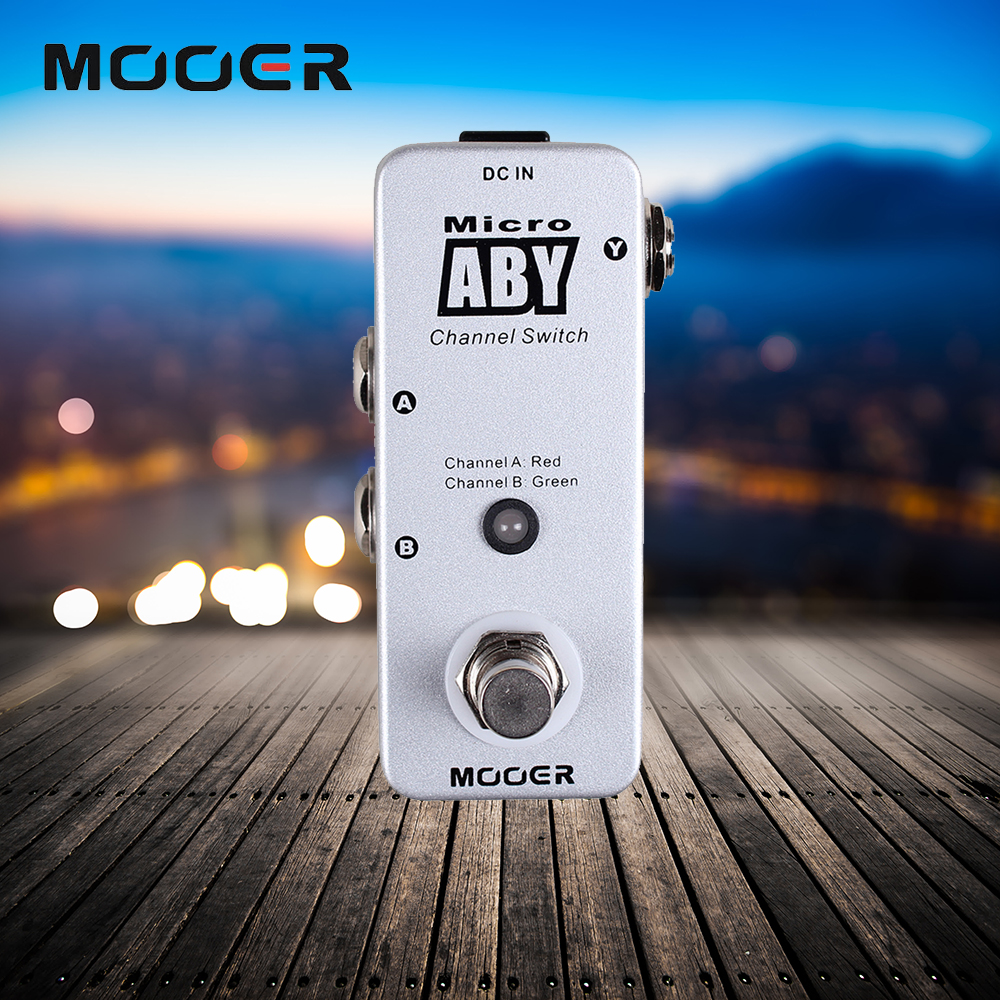 Mooer Full Metal Shell Micro ABY Signal Path From A/B To Y Or From Y To A/B True Bypass Guitar Effect Pedal 200pcs 2sc3202 ktc3202 y c3202 to 92 transistors