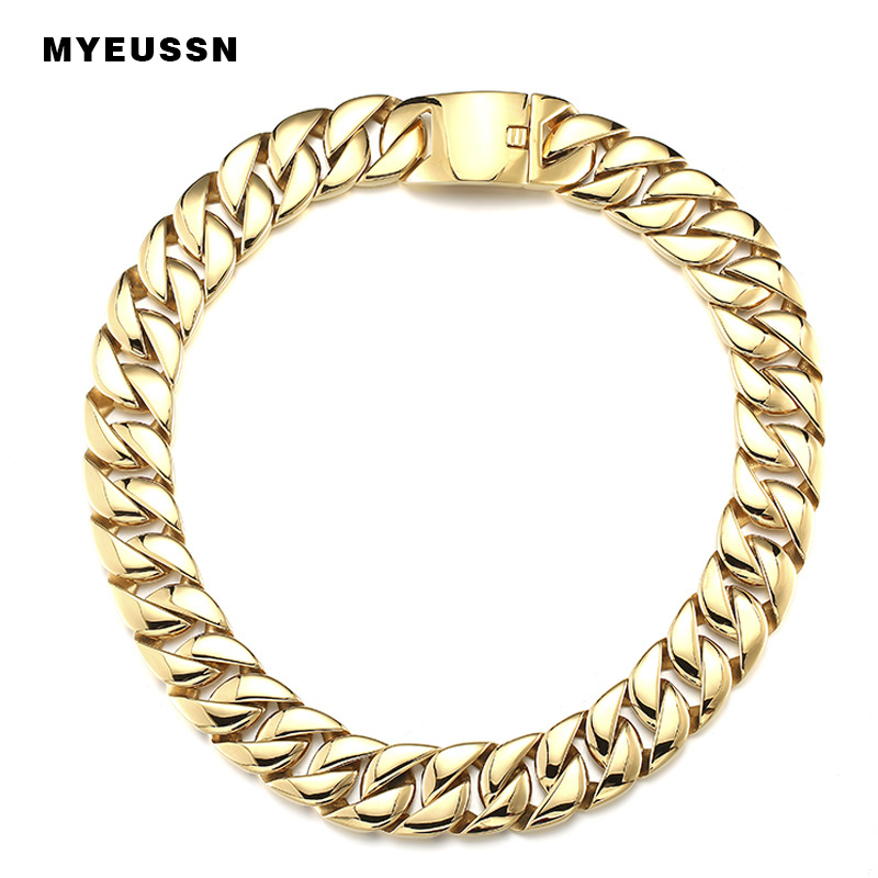 316L Stainless Steel Link Chain necklace cuban chain Men Fashion Gold/Silver Color Charm Hip Hop Jewelry Titanium Necklace gift316L Stainless Steel Link Chain necklace cuban chain Men Fashion Gold/Silver Color Charm Hip Hop Jewelry Titanium Necklace gift