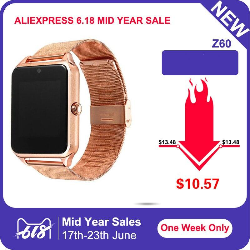 Moda Das Mulheres Dos Homens Z60 GT08Plus Metal Strap Relógio Inteligente Bluetooth Smartwatch Sim Suporte Cartão TF Android & IOS Relógio de Pulso pk Q8 Q9