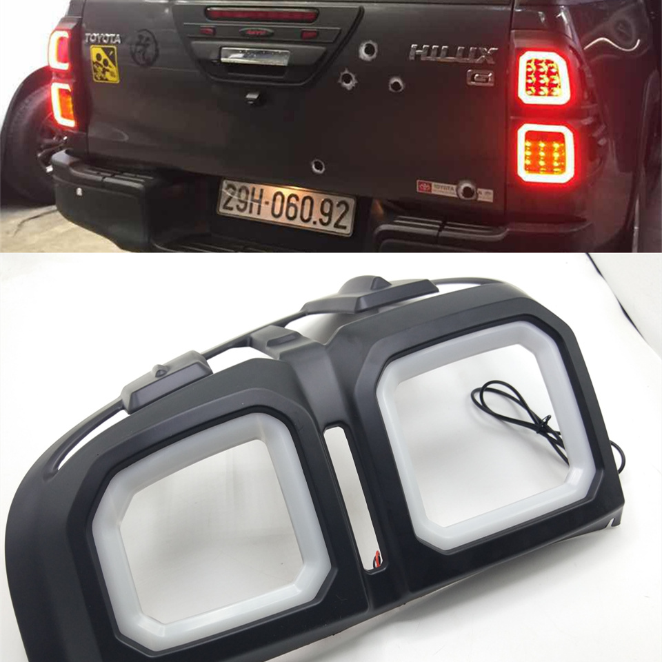 one set 12V LED for Toyota Hilux/Revo tail light cover brake light DRL daylight headlight 2014 2015 2016 2017 2018 цена