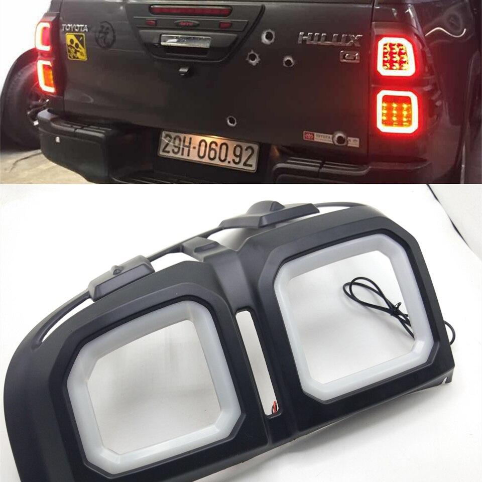 one set 12V LED for Toyota Hilux/Revo tail light cover brake light DRL daylight headlight 2014 2015 2016 2017 2018