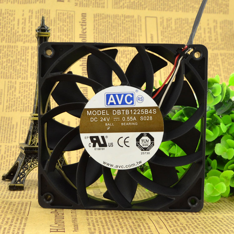 Free Delivery. DBTB1225B4S 12 cm 12025 24 v 0.55 A third line big air volume fan free delivery 9025 9 cm 12 v 0 7 a computer cpu fan da09025t12u chassis big wind pwm four needle