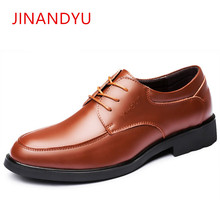 купить Mens Shoes Genuine Leather Italian Brand Formal Wedding Shoes Men Elegant Party Dress Oxford Shoes for Men Shoe Sapato Masculino дешево