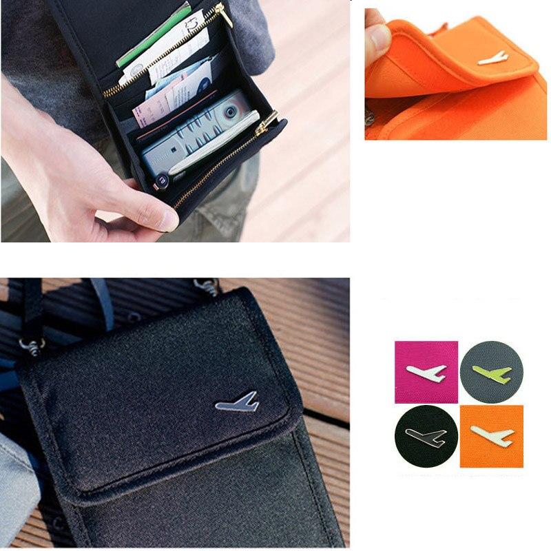 USDROPSHIP Fashion Women Messenger Passport Set Travel Wallet Mens Travel Messenger Shoulder Bag Wallet Security Anti-theft Bag