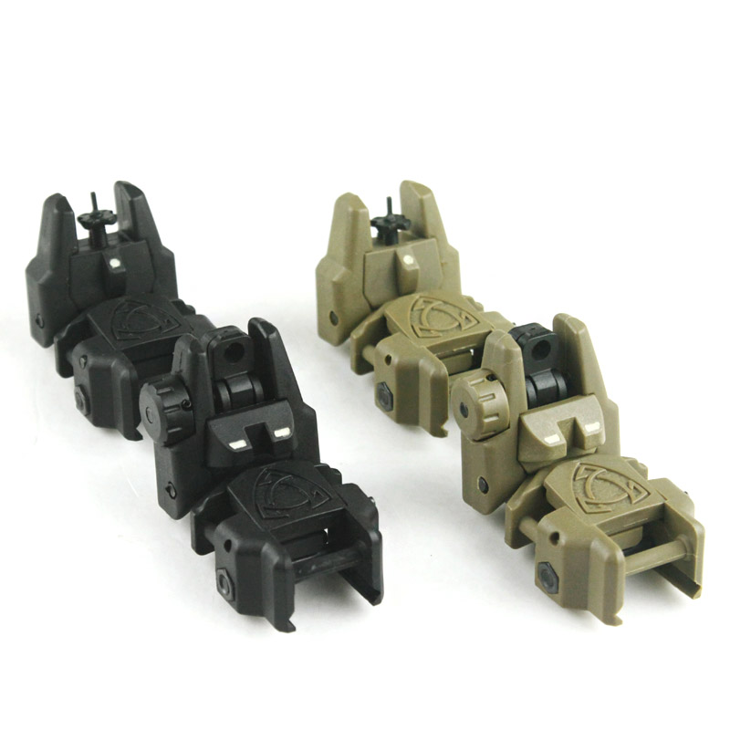 New High Strength Good Quality Plastic Front And Rear Sights With Noctilucence (BK/DE) - Free Shipping