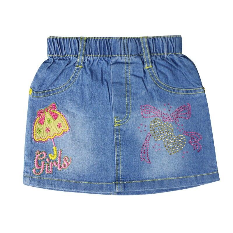 Купить джинсовую юбку с стразами