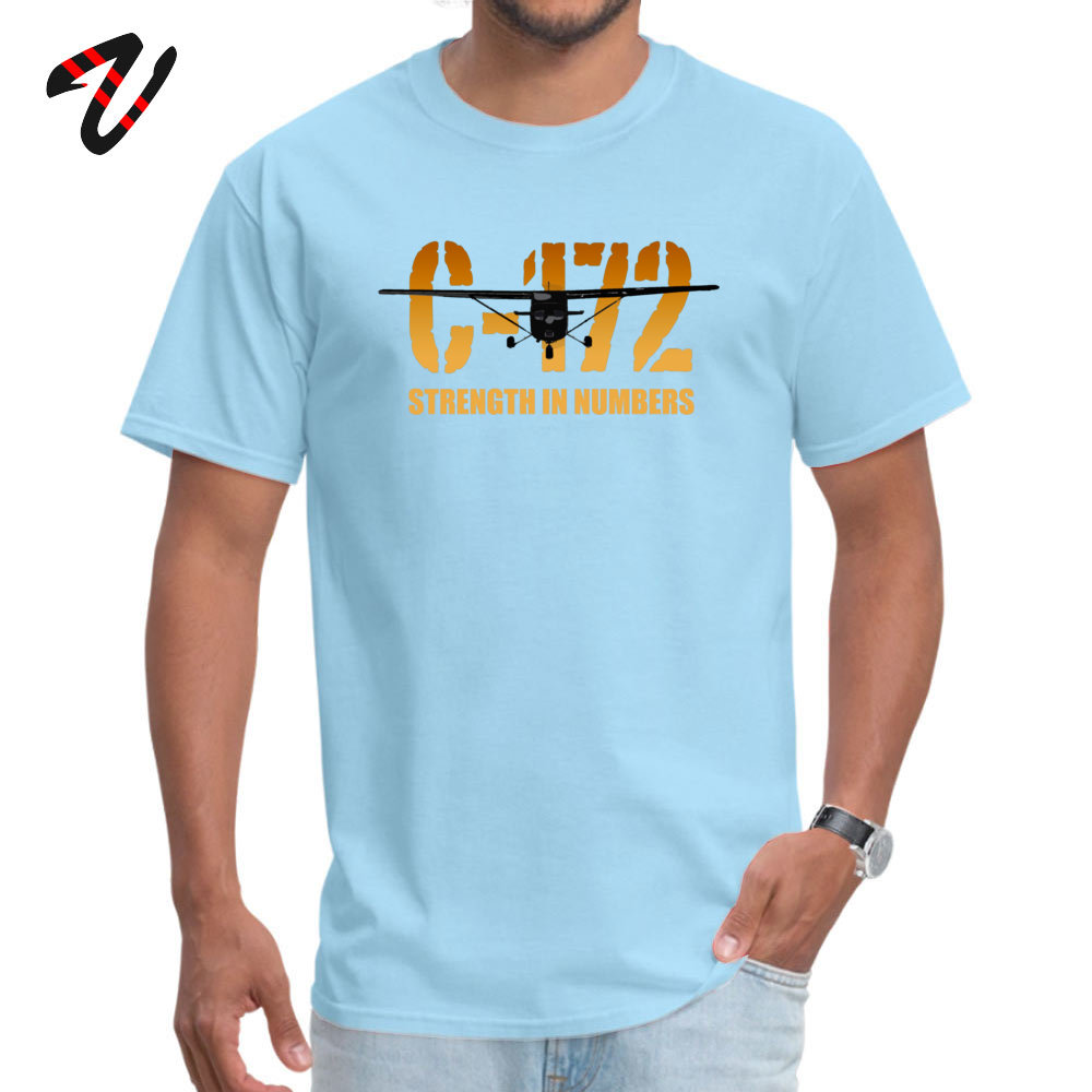 cosie Young Special Casual Tees O-Neck Summer Fall 100% Cotton Fabric T Shirt Summer Short Sleeve Tshirts Drop Shipping Cessna C-172 Strength in Numbers -670 light
