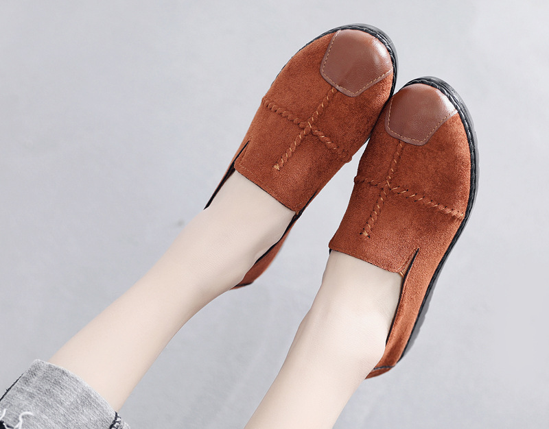 Plus Size Summer Women Flats Fashion Splice Flock Loafers Women Round Toe Slip On Leather Casual Shoes Moccasins New 2019 VT209 (9)