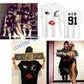 KPOP 2NE1 CL Camiseta de Manga Corta Unisex Park Bom Dara Minzy Mala Gril Camiseta de La Camiseta