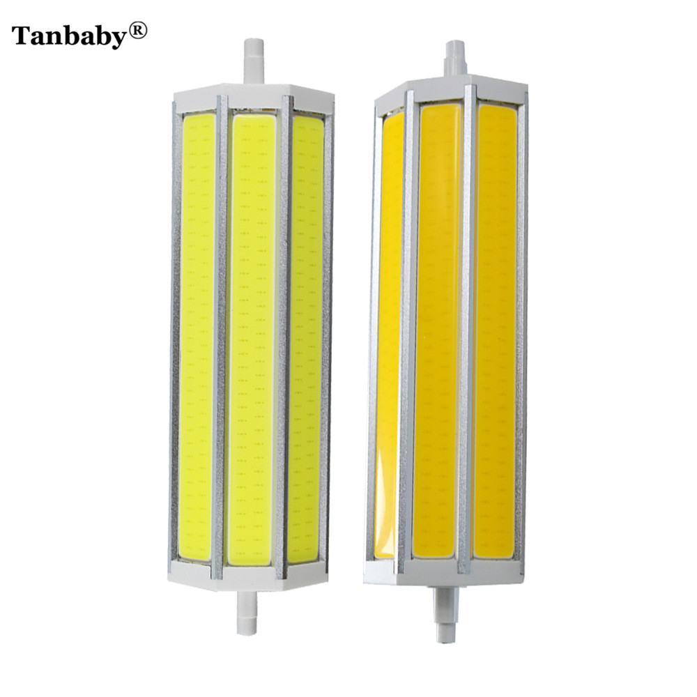 Tanbaby Dimmable LED  Lamp  R7S 189mm COB Tube LED Corn Bulb Indoor Light Replace Halogen Flood light AC85-265V 2pcs/lot r7s led lamp 78mm 118mm 5w 10w led r7s light corn bulb smd2835 led flood light 85 265v replace halogen floodlight