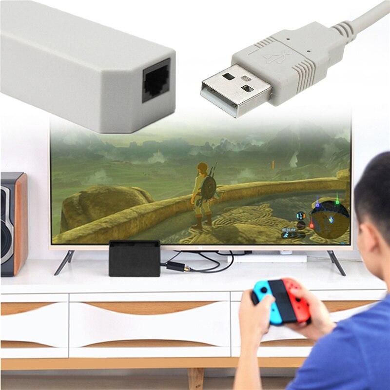 USB Plug and Play de alta Velocidade de Rede Ethernet LAN Internet Cabo conector Para Nintend Interruptor NS Para Wii/U cabo de Rede LAN adaptador