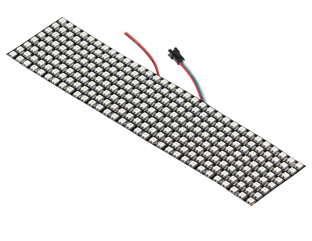 Aihasd WS2812B 5050 8x32 RGB Flexible LED Panel Matrix Individually Addressable Programmable Pixel Display Screen for Arduino 5V