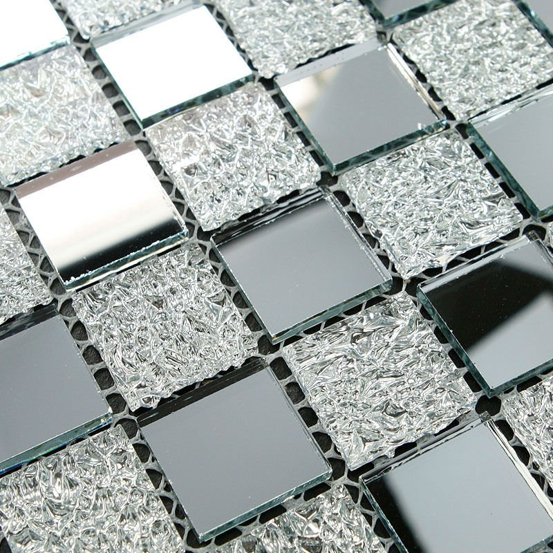 Gl Mosaic Tile Sheets Awesome Mirror Inner Ling Le Backsplash White On Aliexpress Alibaba Group