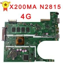 Бесплатная доставка оригинальный ноутбук материнская плата для ноутбука ASUS X200MA K200MA F200MA платы с N2815 Процессор Integrated полностью Тесты