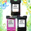 3PK For HP 652 XL Ink Cartridges For HP652 DeskJet ink advantage 1115 2135 3635 1118 2138 3636 3638 printer Compatibility  Chip