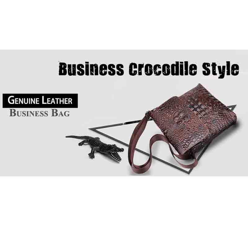 Poitrine Et Messager Brown En Hommes Messenge Nouveau Crocodile Vent De Motif Épaule Sac Cuir Européen Américain wqnv8I4RS