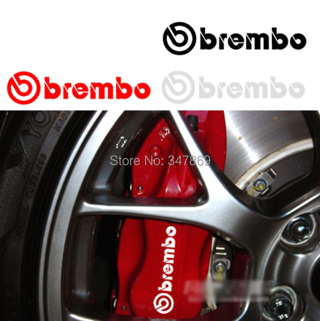 10cm 2 pieces 3M Sticker brembo Racing Funny Brakes Decal Car Motorcycle PC BMW VW Honda Yamaha Kawasaki - Goldenapplestore store