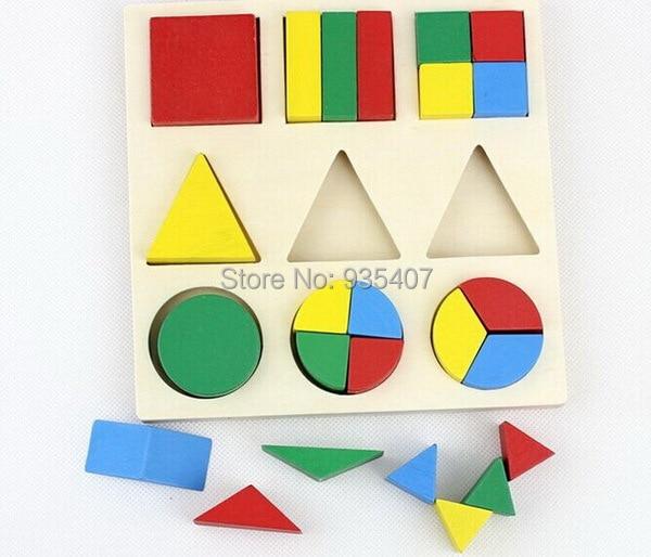 USD 木製おもちゃ適用ダイアグラム幼児インテリジェンススコアディスクジオメトリ幾何パズル解体エイズ United Honno