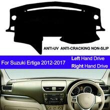 Samochód pokrywa deski rozdzielczej mata na deskę rozdzielczą dla Suzuki Ertiga 2012 2013 2014 2015 2016 2017 Dashmat Pad dywanik mata na deskę rozdzielczą roleta przeciwsłoneczna do samochodu
