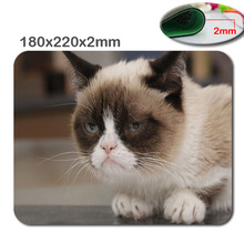 Animal cat Personalized Rectangle Non-Slip Rubber 3D HD printing gaming rubber sturdy pocket book mouse pad measurement 180mmx220mmx2mm