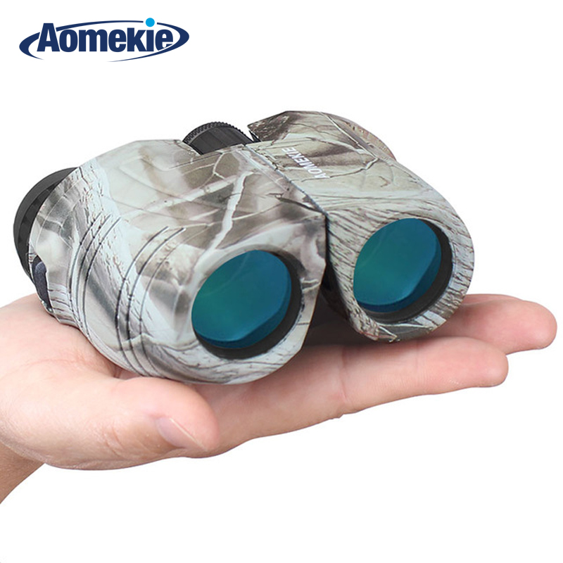 AOMEKIE 12X25 Binoculars Compact High Power Bak4 Prism FMC Porro Telescope for Outdoor Hunting Birdwatching Sport Black/Camo sika hd10x50 binoculars professional compact telescope bak4 for birdwatching travel stargazing hunting camping m0054