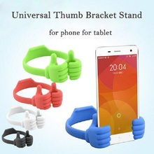 Hot Fashion General Tablet PC Stand Holder Cute Thumb Cell Phone Bracket Stand Universal Holder for Ipad Mini For Samsung Oc20