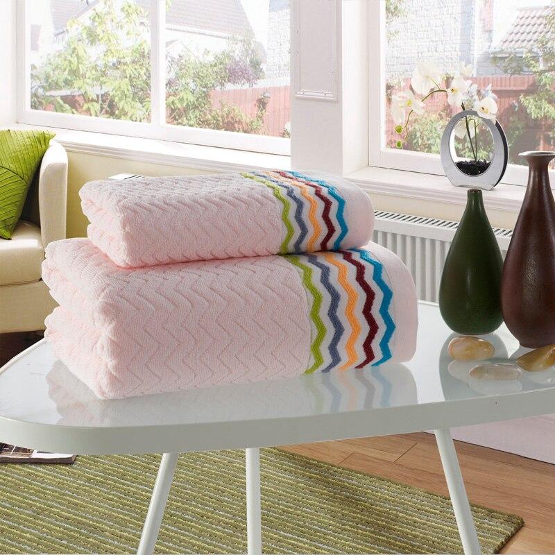 Best 100% Cotton 2 PCS Hotel Travel Beach Bath Towel Set