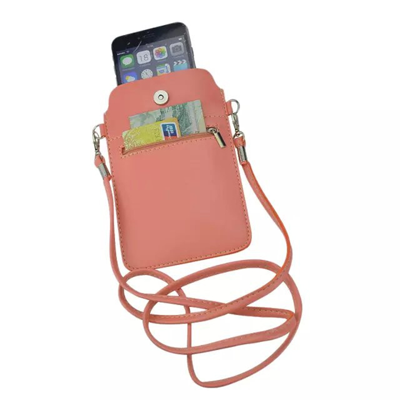 New Leather Small Shoulder Crossbody Pouch for iPhone6 6s Plus 5.5inch for Multi Phone Model Holster Case Cover