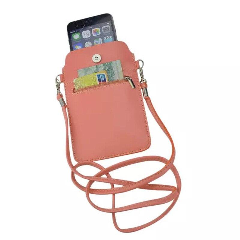 Nouveau En Cuir Petit Épaule Bandoulière Poche pour iPhone6 6 s Plus 5.5 pouces pour Multi Téléphone Modèle Étui Cas Couverture