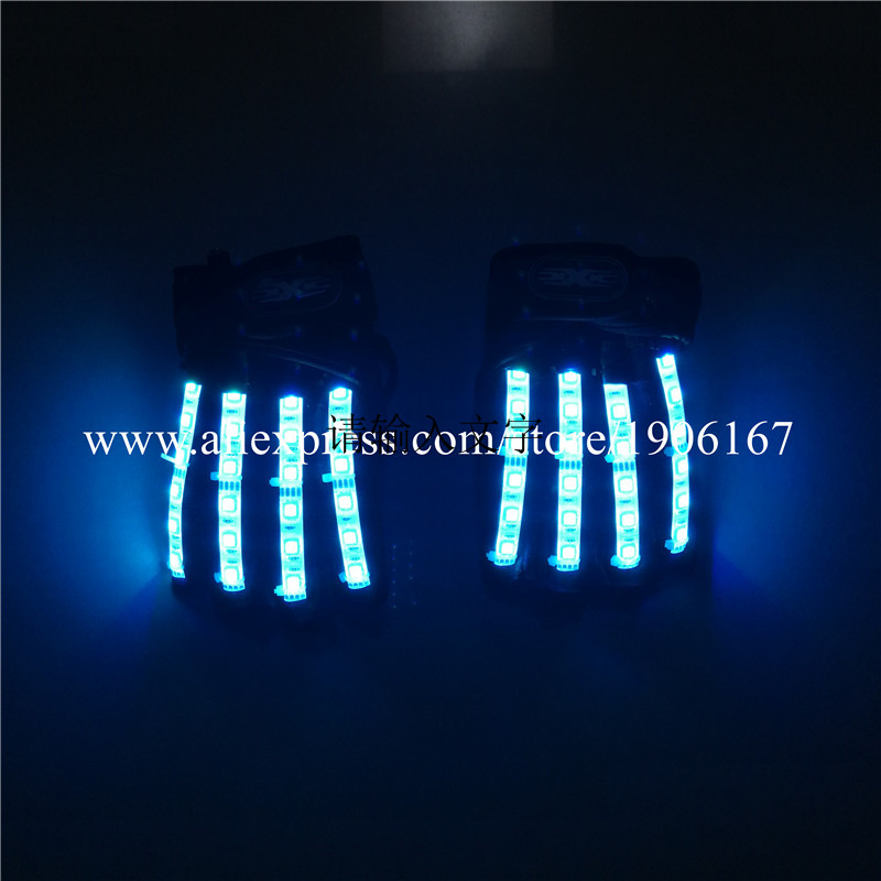 Led Gloves Stage Show Props LED Light up Gloves Glow Party Supplies15