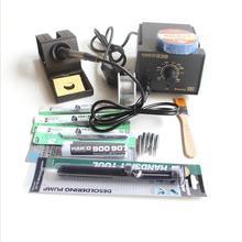 HAKKO 936 паяльная станция Электрический утюг + A1321 керамический нагревательный элемент + много подарков, как фото 220 В