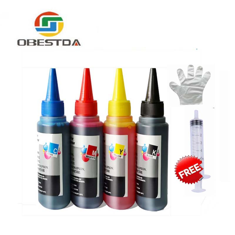4 Color Universal 100ml Refill Dye Ink Kit for Epson for Canon for HP for Brother