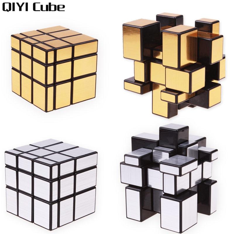 Qiyi 3x3x3 Mirror Bloc Magic Cube argent