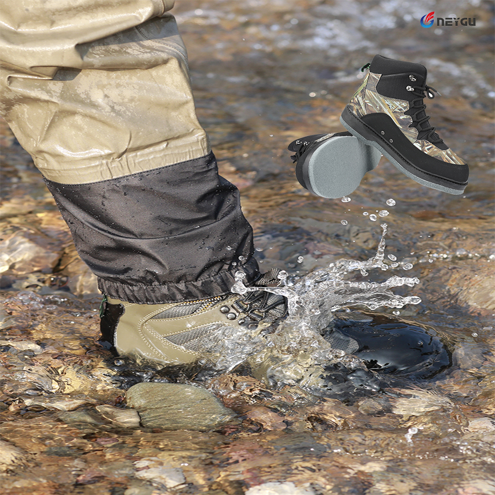 Men's Breathable Outdoor Fishing Shoes,  Quick-dry And Non-slip Wading Boots,for Fishing ,hiking And Hunting