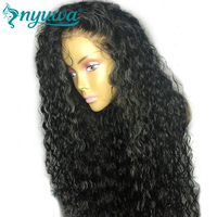Elva Hair 180 Density 360 Lace Frontal Wig Pre Plucked Natural Hairline Brazilian Curly Remy Human