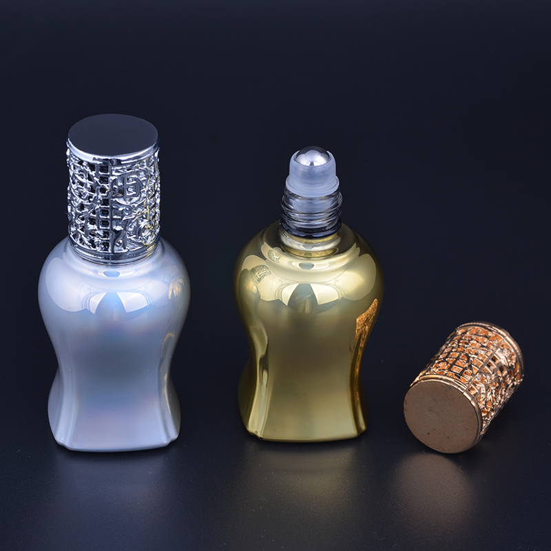 MUB 12ml Mini Cute Glass Portable Perfume Bottle With Roll-on&Empty Perfume Case With alloy cover  portable bottle 100pcs new 2ml clear glass roll on bottle with clear cap