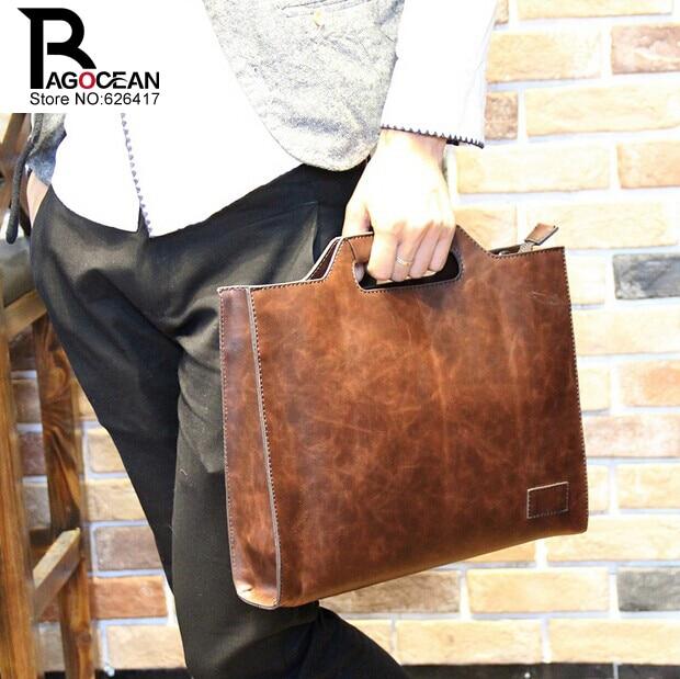 Nuevo estilo crazy horse pu leather men business maletín bolsa - Bolsos - foto 3
