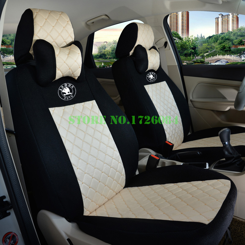 2 Front Seat Universal Car Cover For Skoda Octavia RS Fabia Superb Rapid Yeti Spaceback Joyste Jeti Accessories In Automobiles Covers From