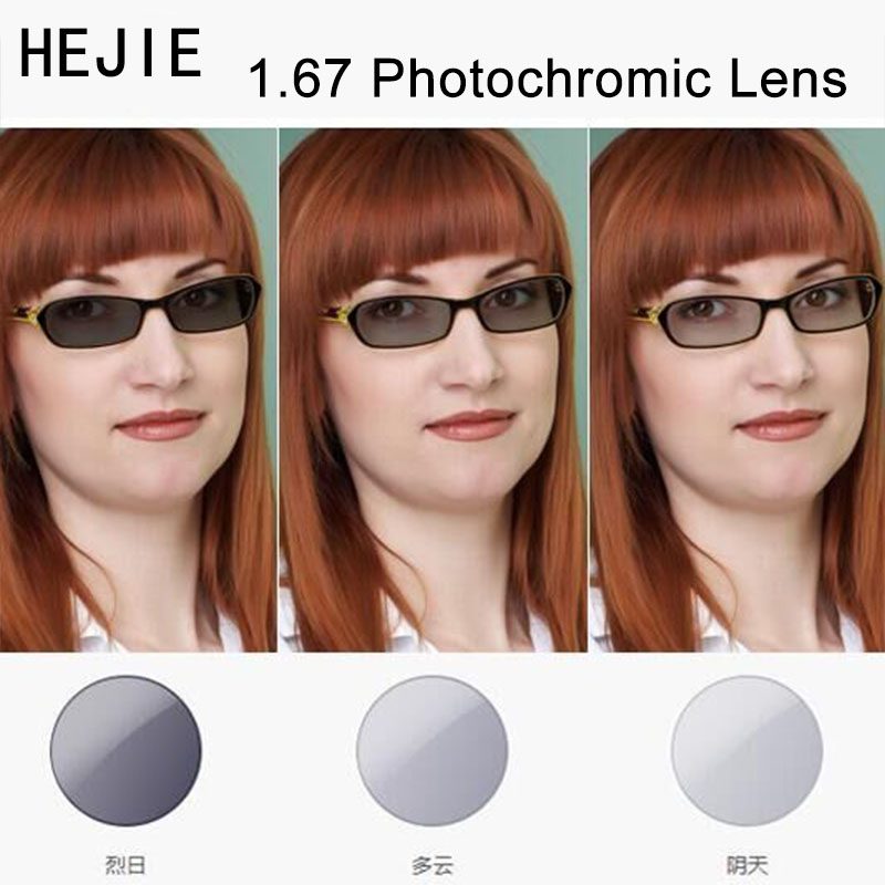 1.67 MR-7 A-grade Photochromic Gray Brown Optical Lenses For Myopia Hyperopia Reading Glasses Sunglases Single Vison Lens