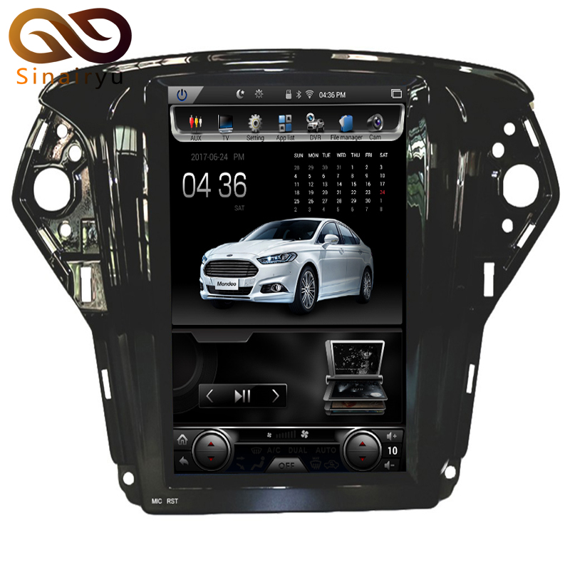 Vertical 10.4 Quad Core Android 6.0 2GB RAM Car DVD GPS Navi Radio For Ford Mondeo 2007-2012 Headunit Multimedia Stereo