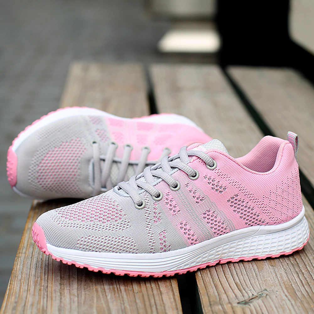 SAGACE أحذية امرأة الصيف تشغيل أحذية رياضية خفيفة الوزن رياضة رياضية حذاء ركض كاجوال اليوغا رياضية أربطة أحذية 2019
