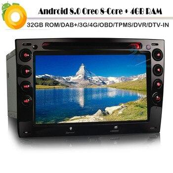 Android 8.0 Autoradio Octa core DAB+Car GPS Navigation player Sat Nav WiFi 4G DVD TV Radio RDS BT USB SD OBD for RENAULT MEGANE