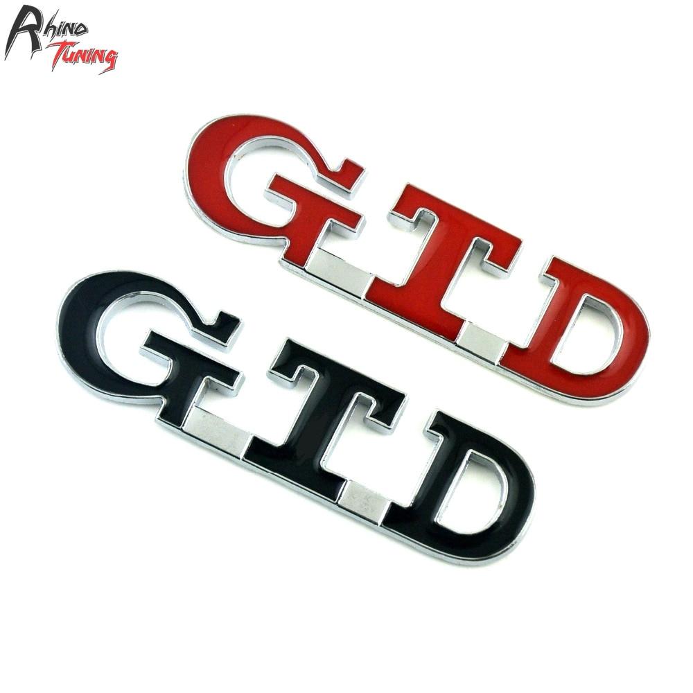 Rhino Tuning GTD Metal Emblem Car Badge Auto Styling Sticker For Golf GTD Variant 2015 20661 auto chrome camaro letters for 1968 1969 camaro emblem badge sticker