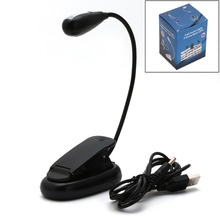 HNGCHOIGE Flexible Single Arm 2 LED Lamp Clip On Light For Book Reading