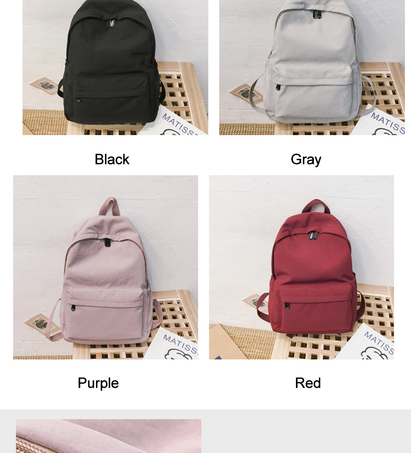 9a5bfce1416 DCIMOR Nylon waterproof women backpack High quality solid color shoulder  bag schoolbag for Teenage girls 2019 Travel backpack