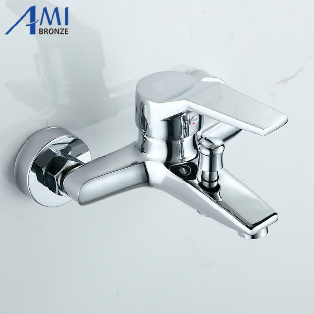 Simple Bathroom Shower Faucets Bathtub Faucet Hot Cold Mixer Tap In