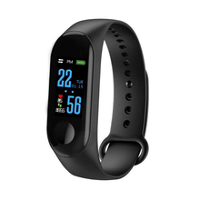 New Sports Smart Bracelet Health Sleep Fitness Tracker Heart Rate Monitor Smart Wristband Color LCD Screen Watch for Android iOS